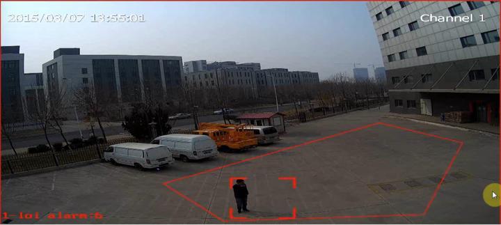 Funkcia sledovania nepovoleného pohybu v ohraničenej zóne kamier Tiandy