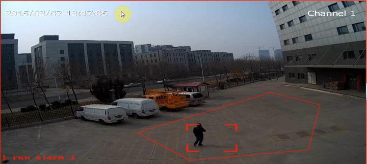Funkcia sledovania behu v zóne kamier Tiandy